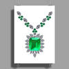 Large Emerald Pendant Necklace Poster Print (Portrait)