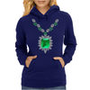 Large Emerald Pendant Necklace Womens Hoodie