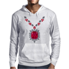 Large Ruby and Diamond Pendant Mens Hoodie