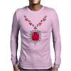 Large Ruby and Diamond Pendant Mens Long Sleeve T-Shirt