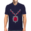 Large Ruby and Diamond Pendant Mens Polo