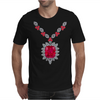 Large Ruby and Diamond Pendant Mens T-Shirt