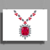 Large Ruby and Diamond Pendant Poster Print (Landscape)