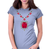 Large Ruby and Diamond Pendant Womens Fitted T-Shirt