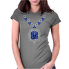 Large Sapphire Pendant Necklace Womens Fitted T-Shirt