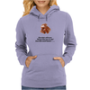laugh humour funny crazy satire LADIES CHOCOLATE WILL NEVER CALL YOU FAT! CHOCOLATE UNDERSTANDS! Womens Hoodie