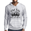 Laughing Chef Skulls: Chef Life (Baked. Fried. Sauced.) Mens Hoodie