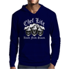 Laughing Chef Skulls: Chef Life Mens Hoodie
