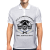 Laughing Chef Skulls: It's a Chef's World... Mens Polo