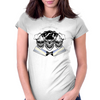 Laughing Chef Skulls: It's a Chef's World...You, Just Eat In It Womens Fitted T-Shirt