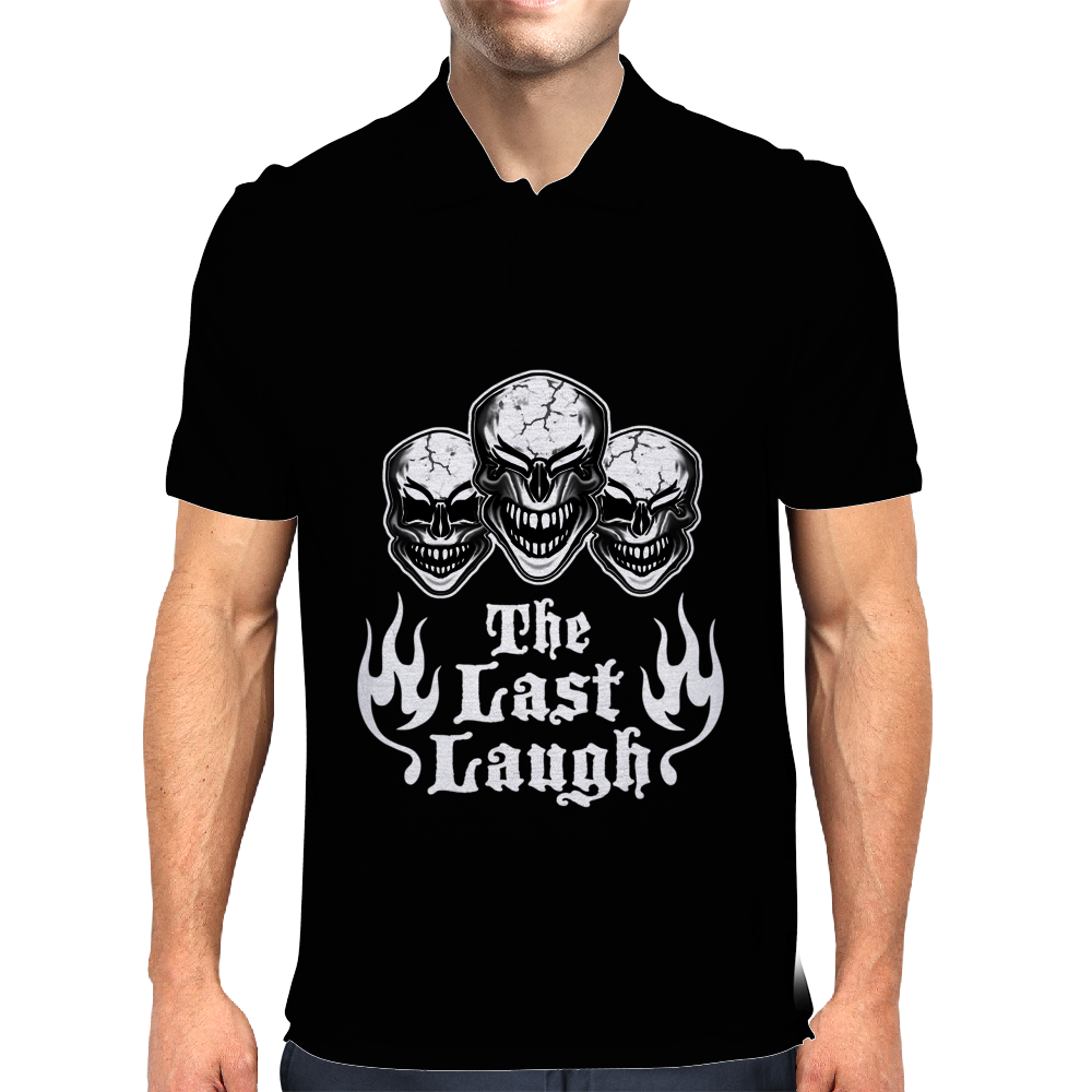 Laughing Skull Trio: The Last Laugh Mens Polo