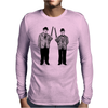 Laurel and Hardy holding shotguns illustration Mens Long Sleeve T-Shirt