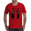 Laurel and Hardy holding shotguns illustration Mens T-Shirt