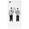 Laurel and Hardy holding shotguns illustration Phone Case