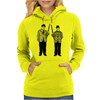 Laurel and Hardy holding shotguns illustration Womens Hoodie