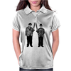 Laurel and Hardy holding shotguns illustration Womens Polo