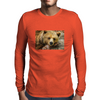 Lazy Grizzly Bear Painted Picture Mens Long Sleeve T-Shirt