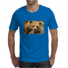 Lazy Grizzly Bear Painted Picture Mens T-Shirt