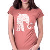 Left Side Elephant Womens Fitted T-Shirt