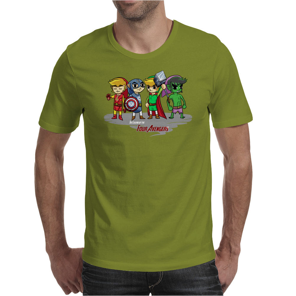 Legend of the Four Avengers Mens T-Shirt