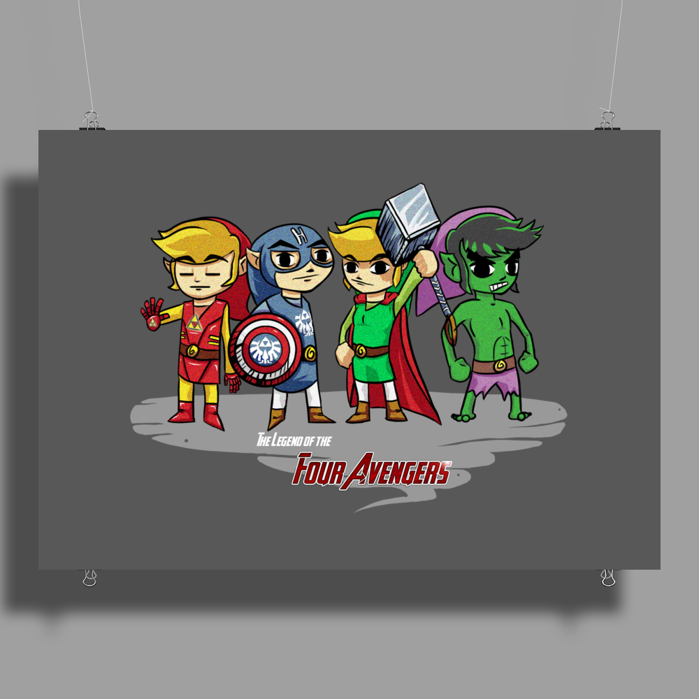 Legend of the Four Avengers Poster Print (Landscape)