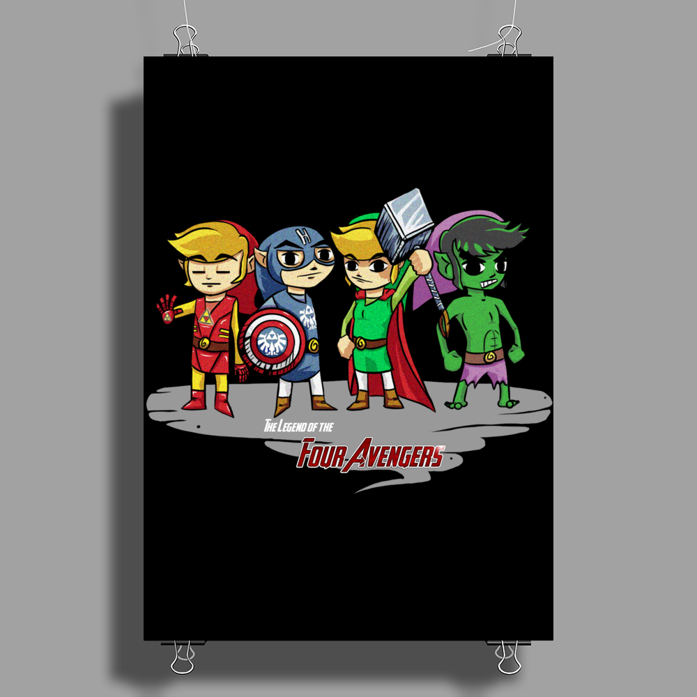 Legend of the Four Avengers Poster Print (Portrait)