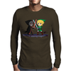 Legend of Zelda Link vs Dark Link Star Wars Parody Mens Long Sleeve T-Shirt