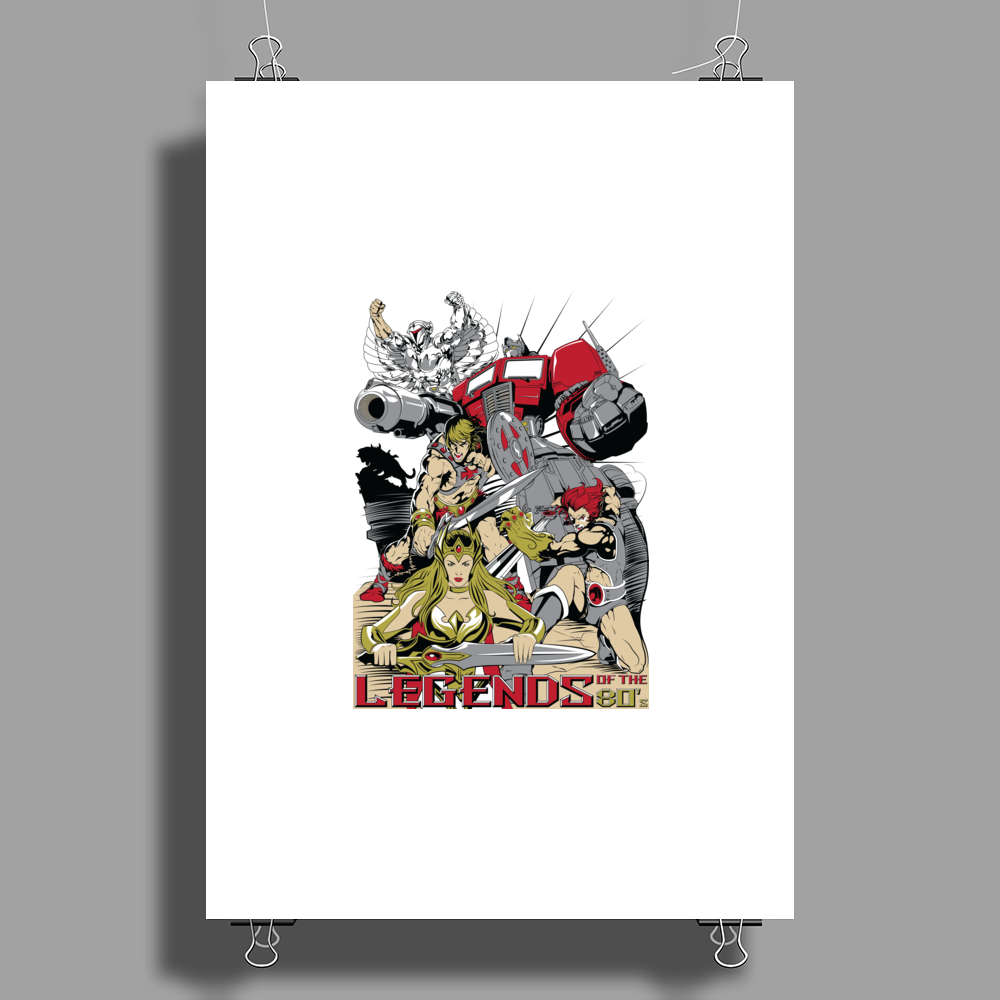 LEGENDS OF THE 80´S Poster Print (Portrait)