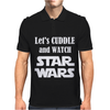 LET'S CUDDLE AND WATCH STAR WARS Mens Polo