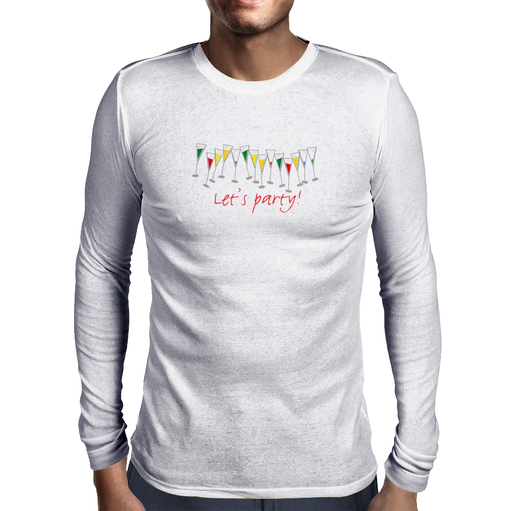 Let's party! Mens Long Sleeve T-Shirt