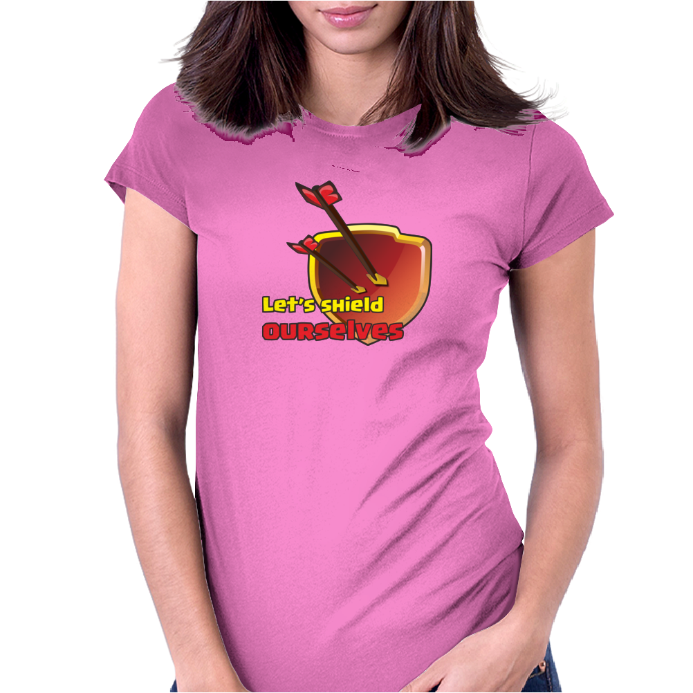 Let's Shield Ourselves, coc Womens Fitted T-Shirt