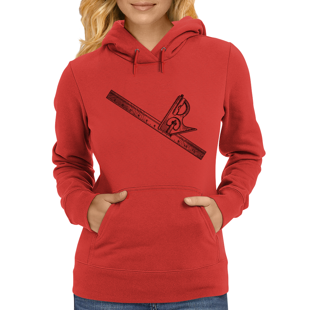 level, carpenters square, square, Womens Hoodie