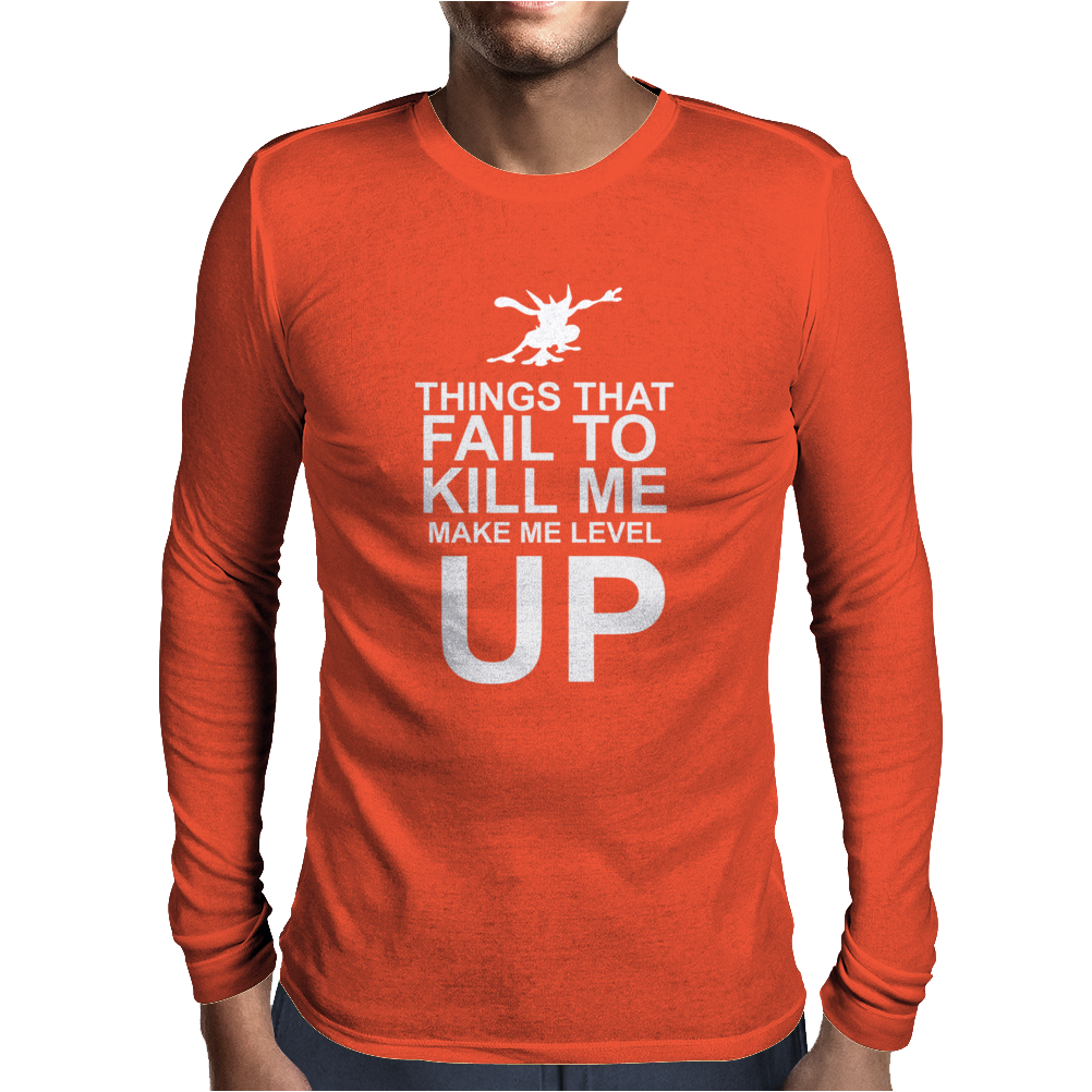 Level Up Mens Long Sleeve T-Shirt