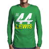 Lewis Hamilton 44 Formula 1 Motor Racing Mens Long Sleeve T-Shirt