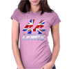 Lewis Hamilton Union Jack 44 Formula 1 Womens Fitted T-Shirt