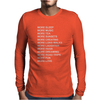 LIFE GOALS x Humour Mens Long Sleeve T-Shirt
