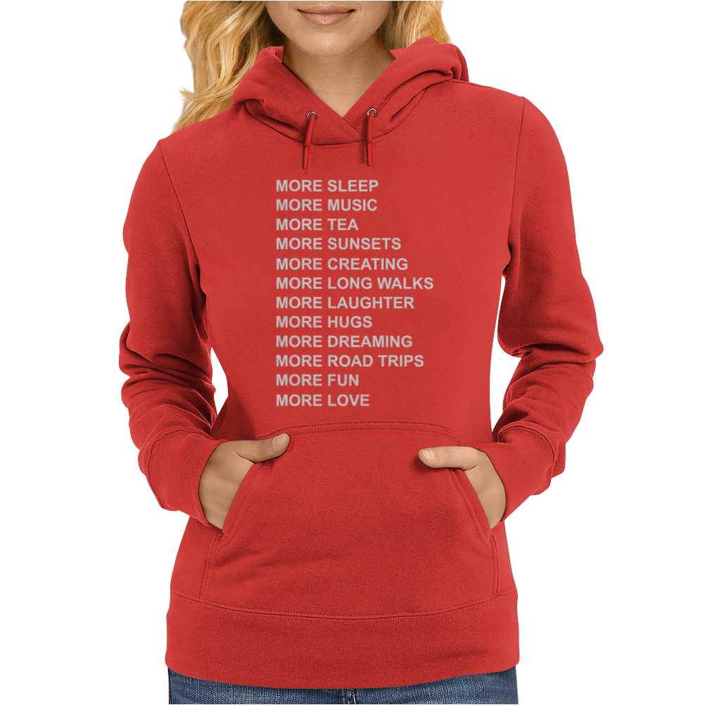 LIFE GOALS x Humour Womens Hoodie