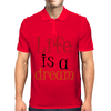 Life is a Dream Mens Polo