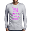 life is better with friends, birds twitter, pink Mens Long Sleeve T-Shirt