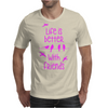 life is better with friends, birds twitter, pink Mens T-Shirt
