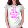 life is better with friends, birds twitter, pink Womens Fitted T-Shirt