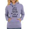 life is better with friends, birds twitter Womens Hoodie