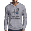 life is better with friends king and queen blue dress crown Mens Hoodie