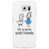 life is better with friends king and queen blue dress crown Phone Case