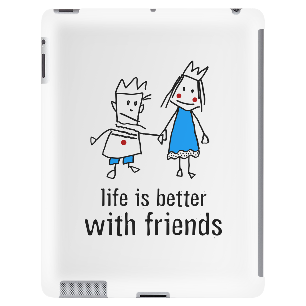 life is better with friends king and queen blue dress crown Tablet