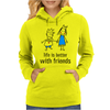 life is better with friends king and queen blue dress crown Womens Hoodie