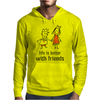 life is better with friends king and queen orange dress crown Mens Hoodie