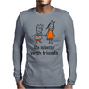 life is better with friends king and queen orange dress crown Mens Long Sleeve T-Shirt