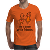 life is better with friends king and queen orange dress crown Mens T-Shirt