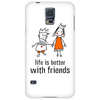 life is better with friends king and queen orange dress crown Phone Case